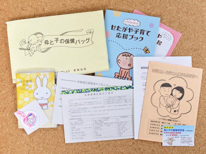母子手帳と、母と子の保険バッグ(東京都世田谷区)