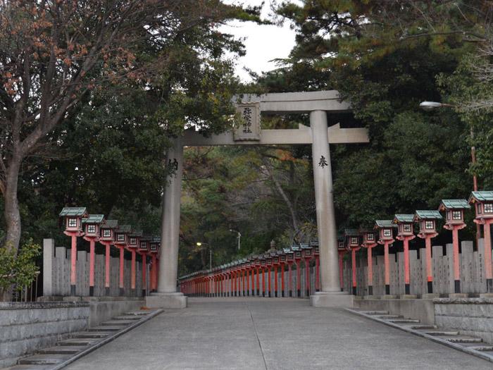大阪・岸和田市にある弥栄神社(やえいじんじゃ)の鳥居