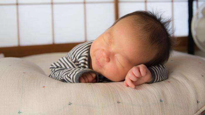 北野鼓太郎、生後1ヶ月。