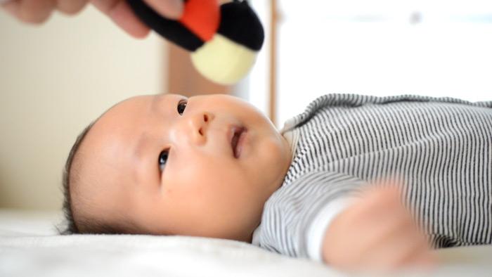 鼓太郎、鈴の人形に反応する。