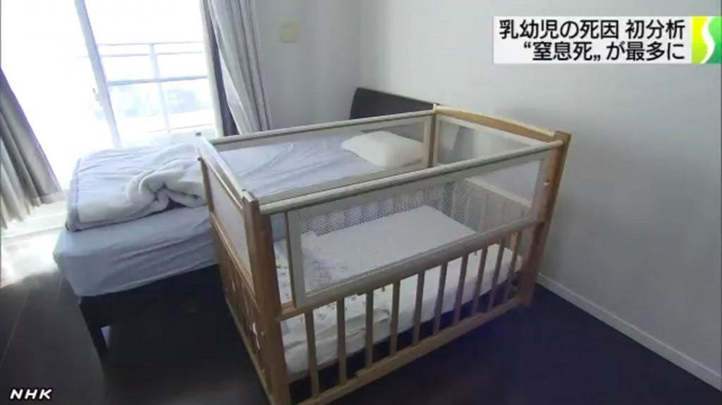 親と川の字で一緒に寝る、又は添い寝する場合は注意。