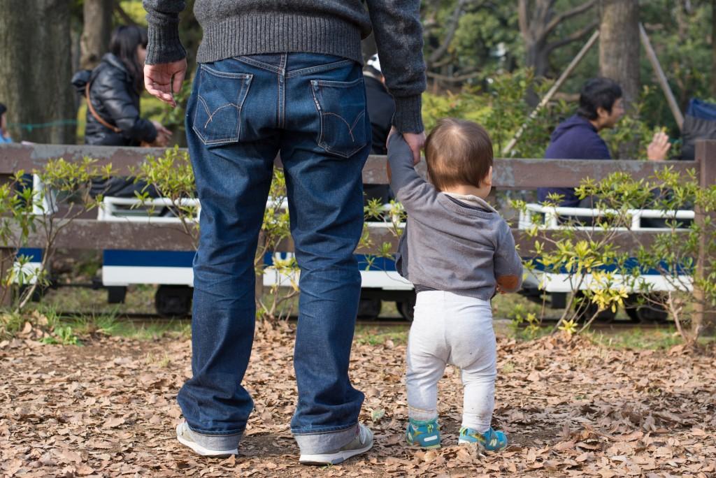 生後11ヶ月。父と子。