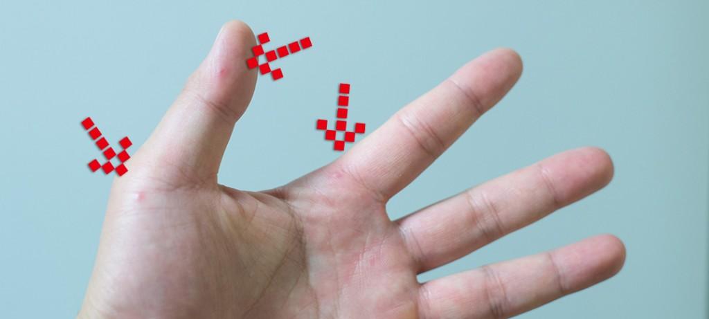 手足口病、手に発疹