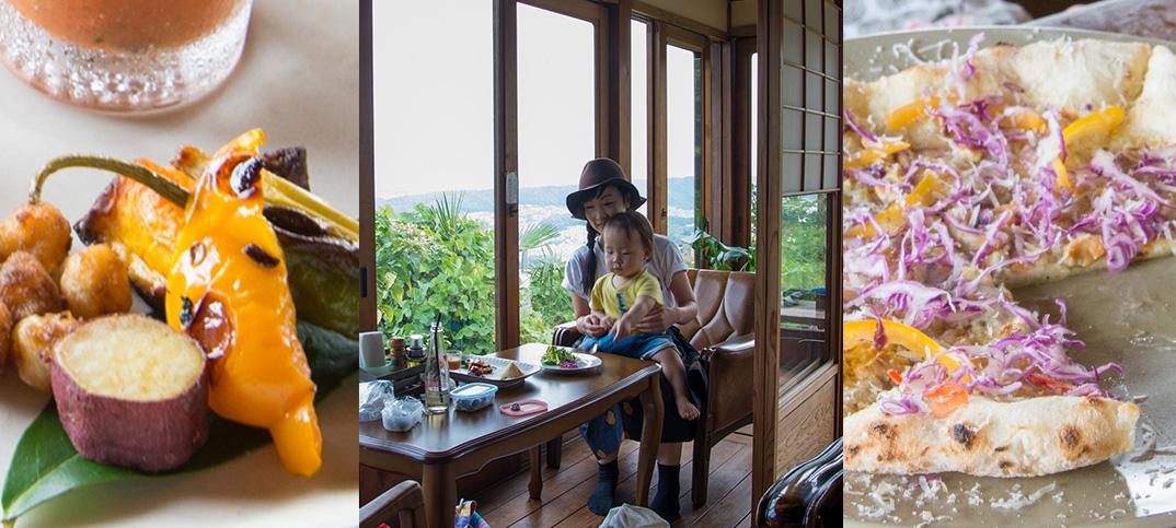 子づれでランチ、雲亭(くもてい)。奈良・生駒の絶景をみながら山の上で石窯ピザ。
