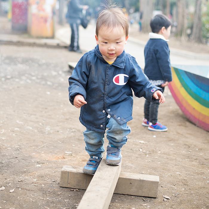 世田谷公園で遊ぶ鼓太郎
