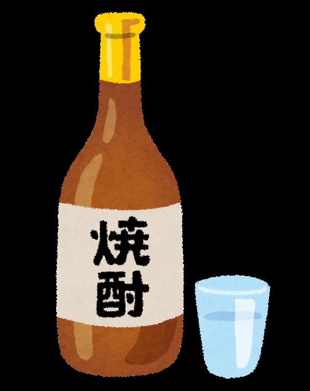 焼酎のビン