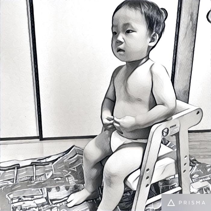 これから散髪! 2歳の息子