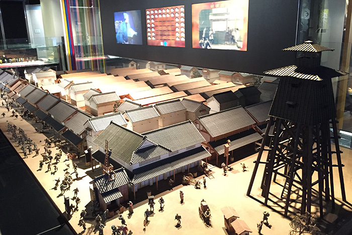 江戸の街並みの模型