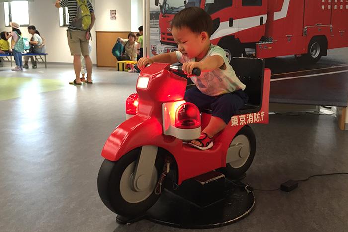 子供用の消防バイク(消防博物館 東京消防庁)