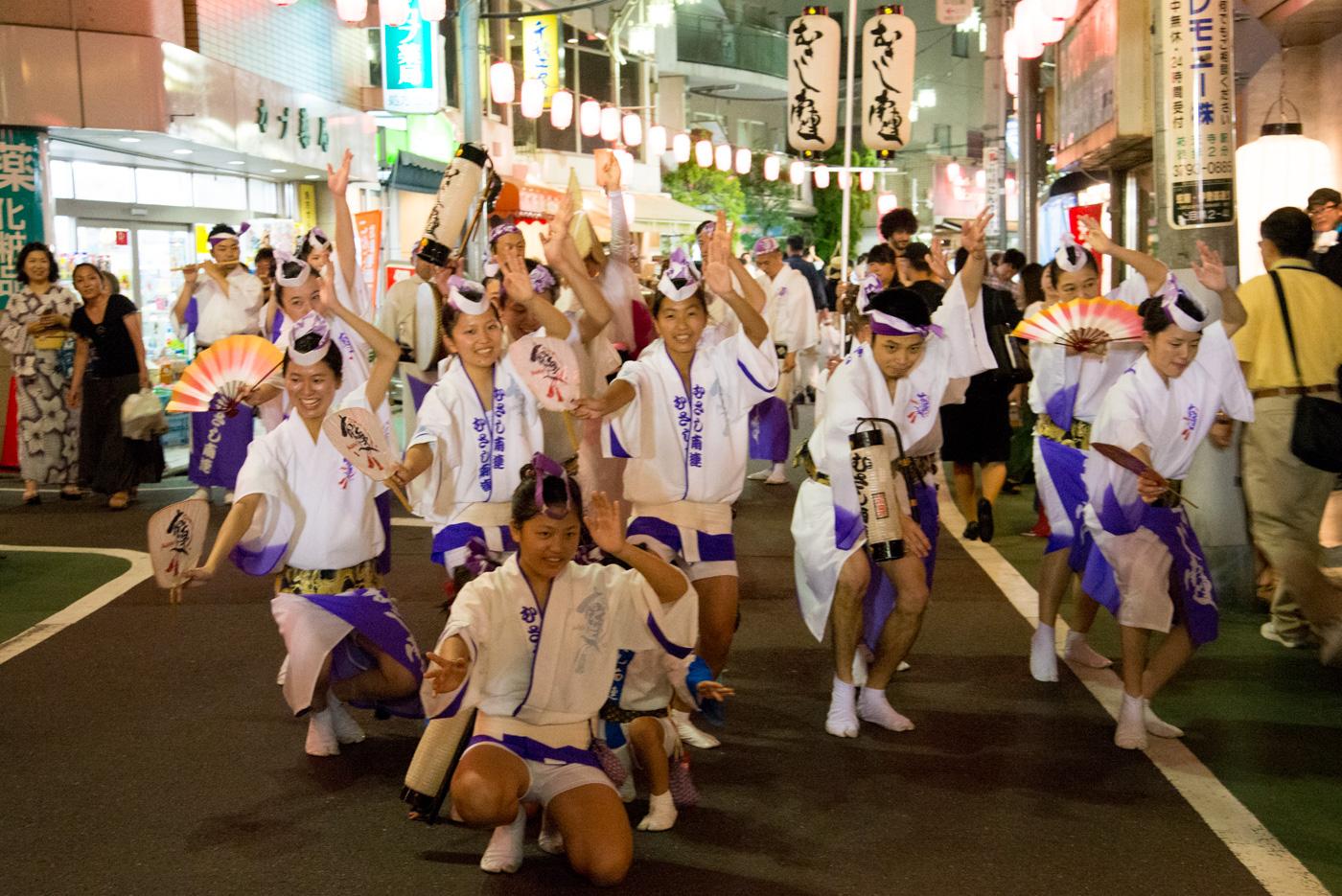 第51回中目黒夏まつり(2016年)阿波踊り、はいポーズ