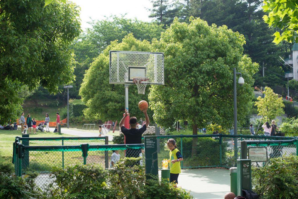 港区立檜町公園のバスケットコート