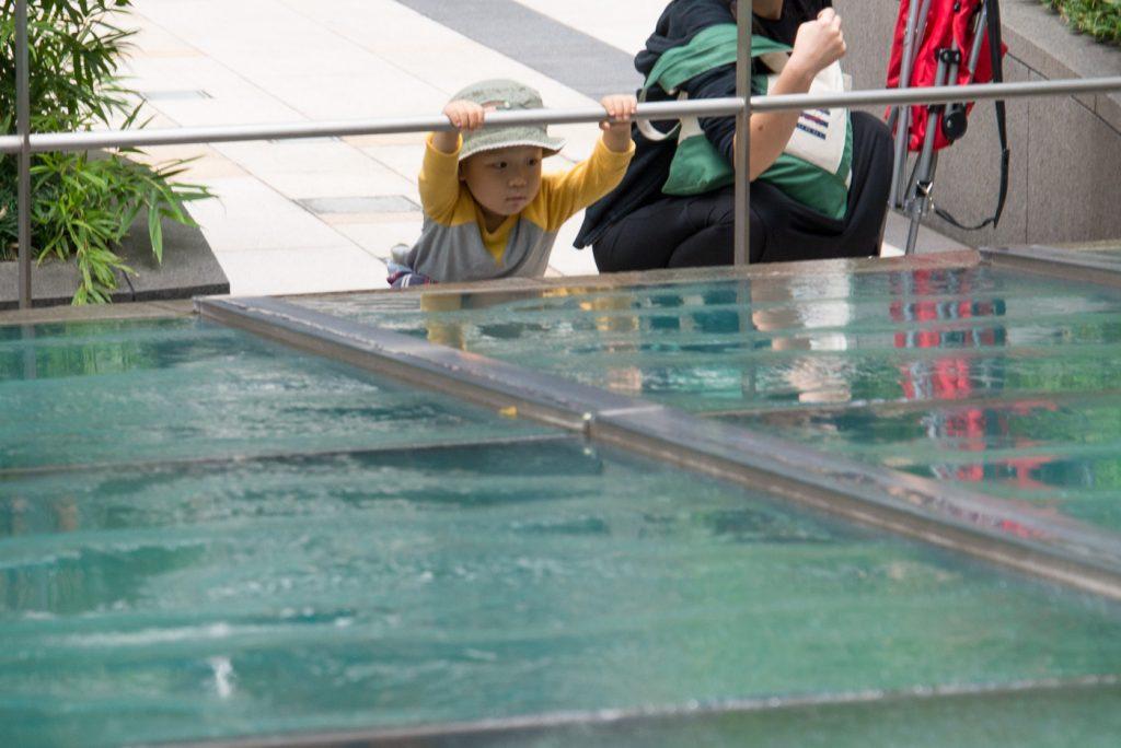 東京ミッドタウンの噴水