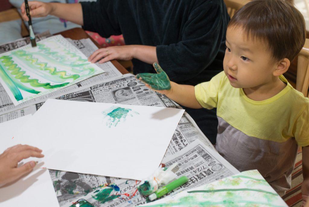 2歳の鼓太郎、思い出の手形