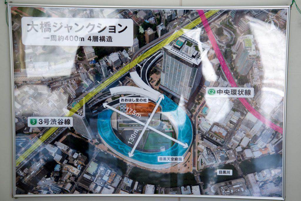 目黒天空庭園 空から見た解説図