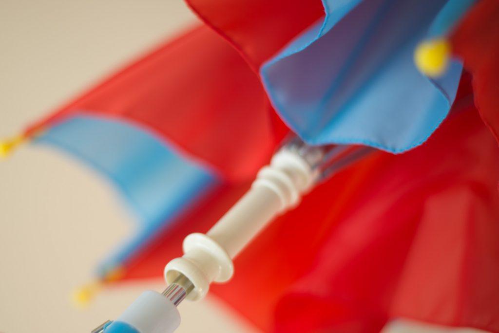 子供用の傘、下ロクロ