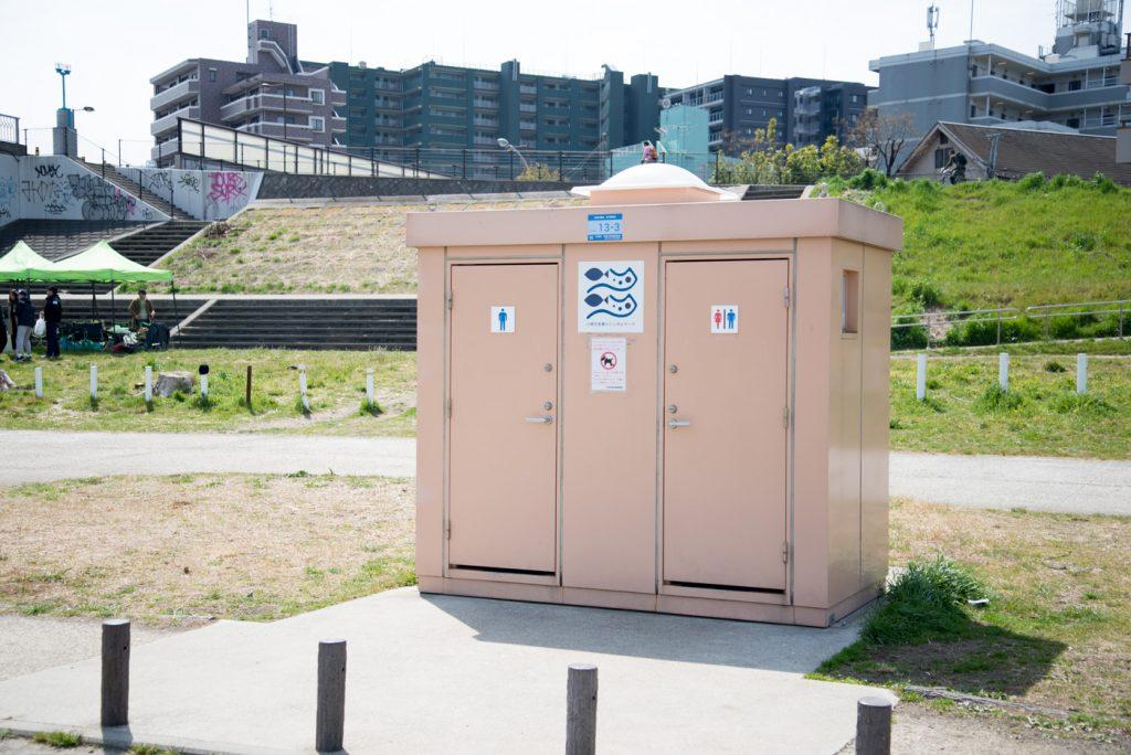 川崎市多摩川緑地バーベキュー広場 公衆トイレ