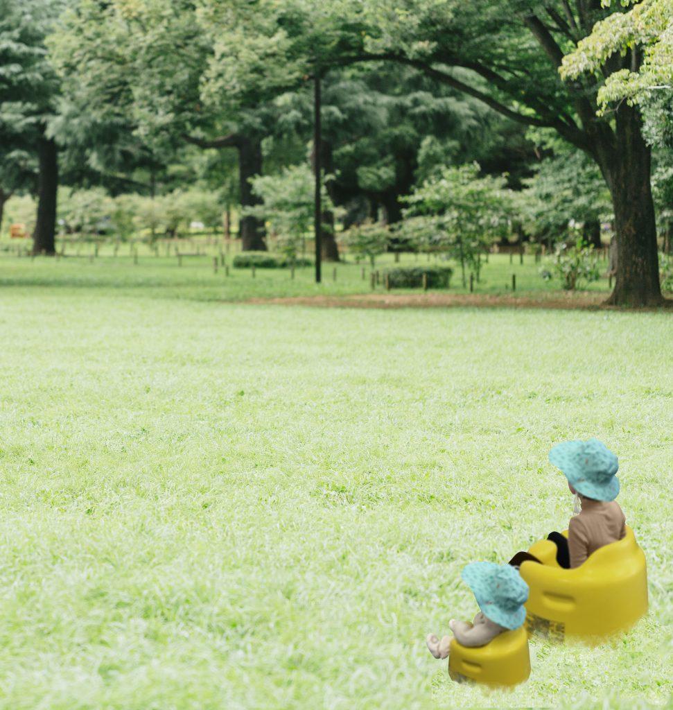 親子でバンボに座れちゃう。