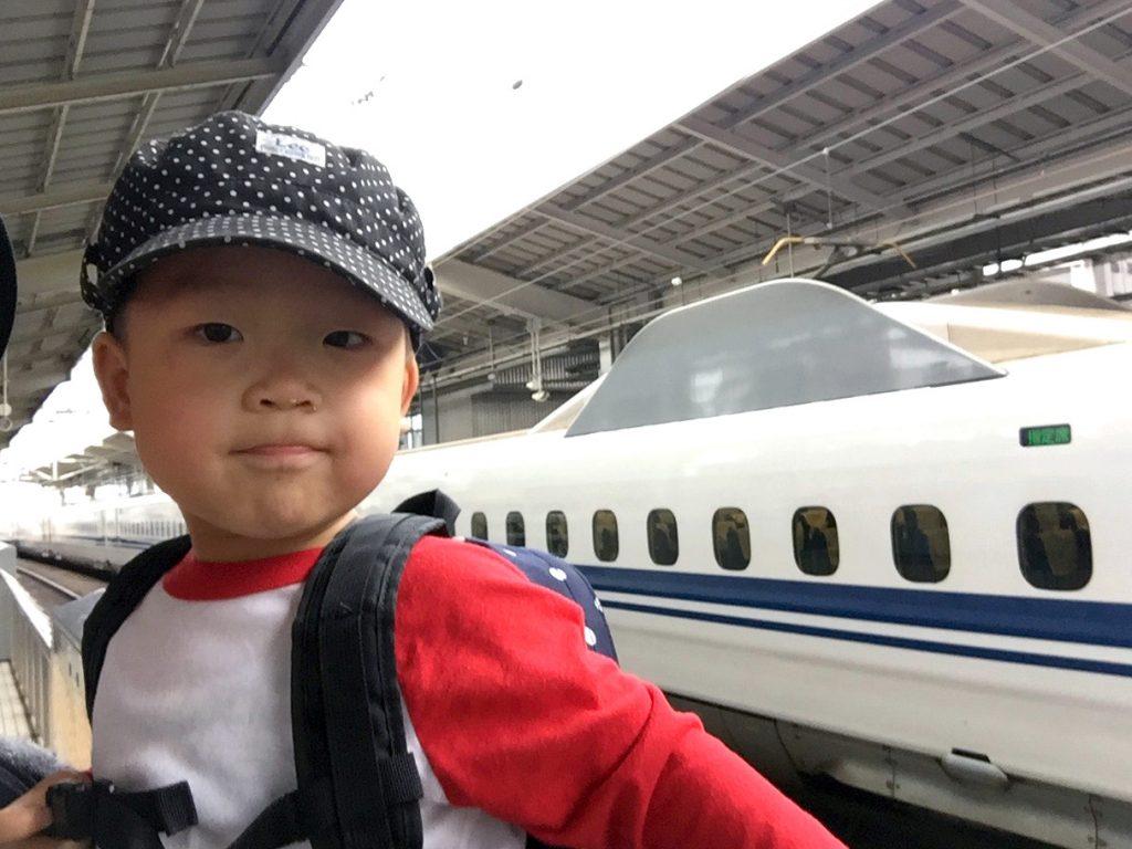 「新幹線のぞみ、今度は指定席を2席取ったよー」