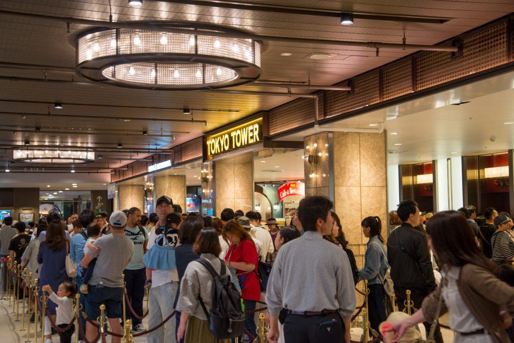 東京タワー エレベーターの入り口