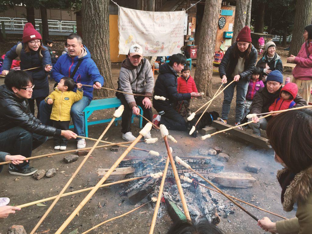 焚き火で料理(世田谷公園プレーパーク)