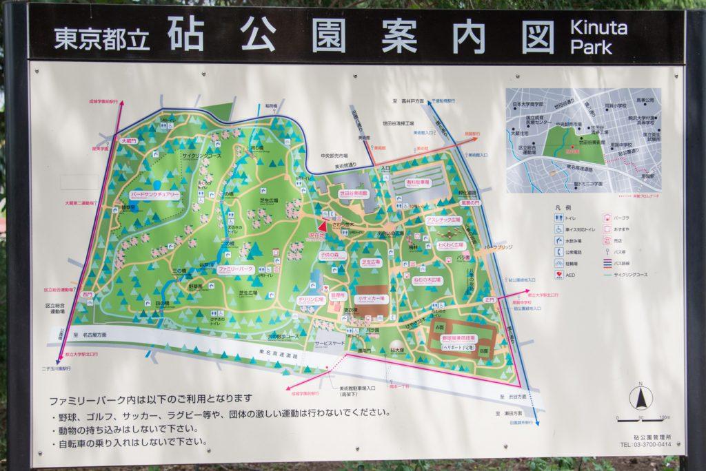案内マップ - 東京都立砧公園(世田谷区)