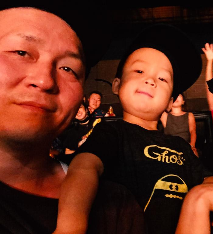 鼓太郎とパパ