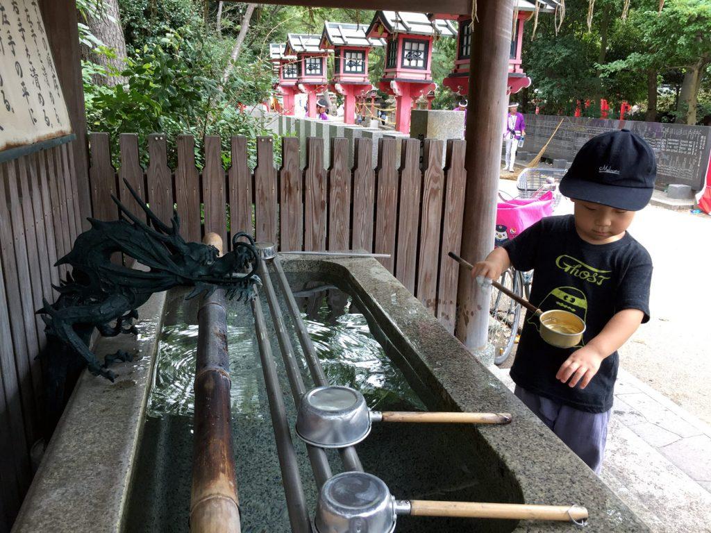 弥栄神社の手水舎