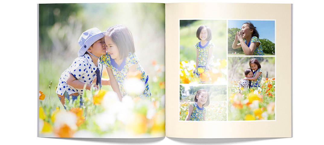 フォトブック「PhotoJewel S」の見本