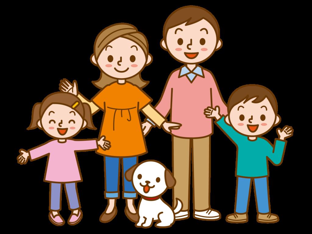 健康で仲良しな家族
