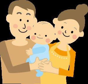 パパ、ママ、赤ちゃん