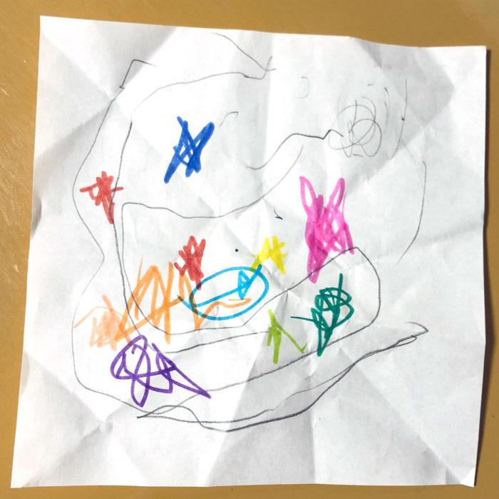 3歳の息子がサンタさんに手紙