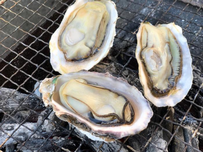 牡蠣の炭火焼