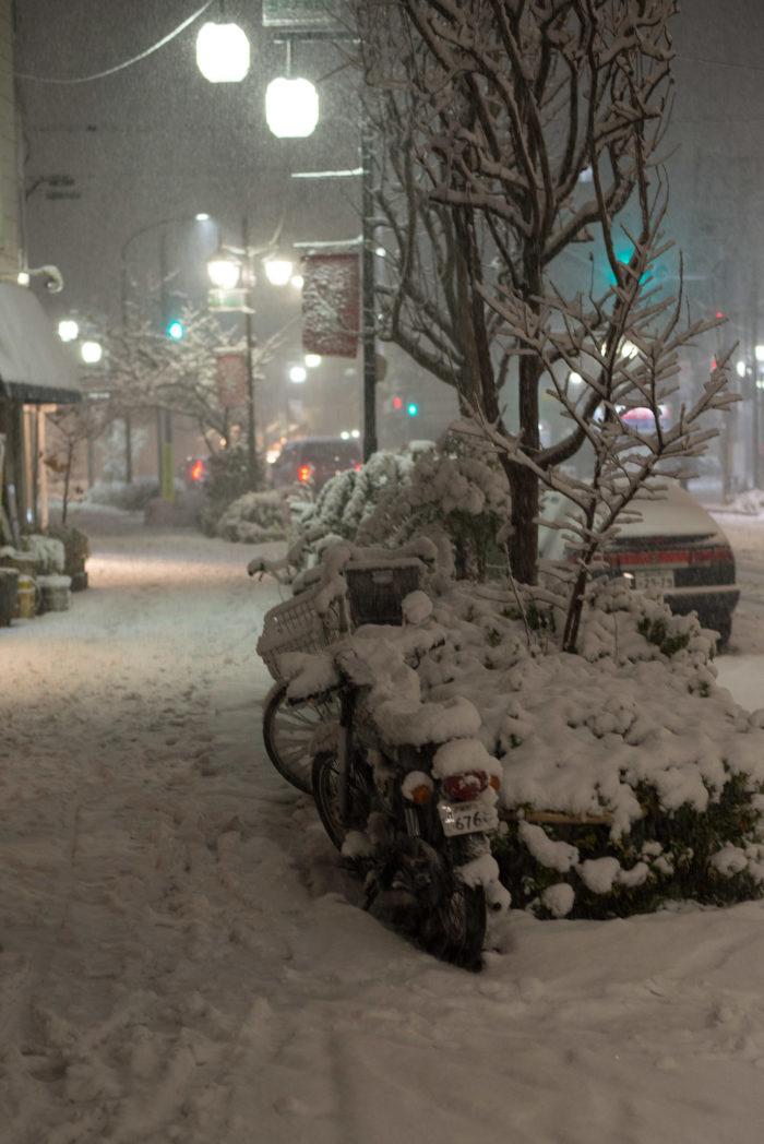目黒区五本木に積もる雪