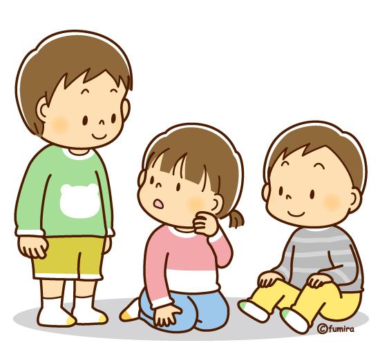 保育園のお兄ちゃんと、幼い子どもたち