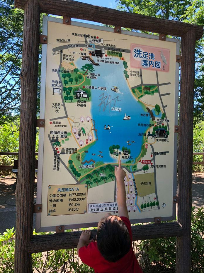洗足池公園の案内図