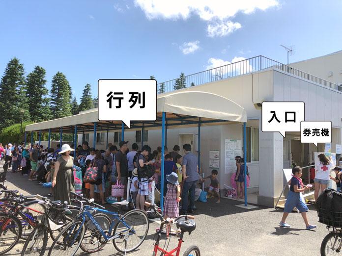 世田谷公園プールの行列