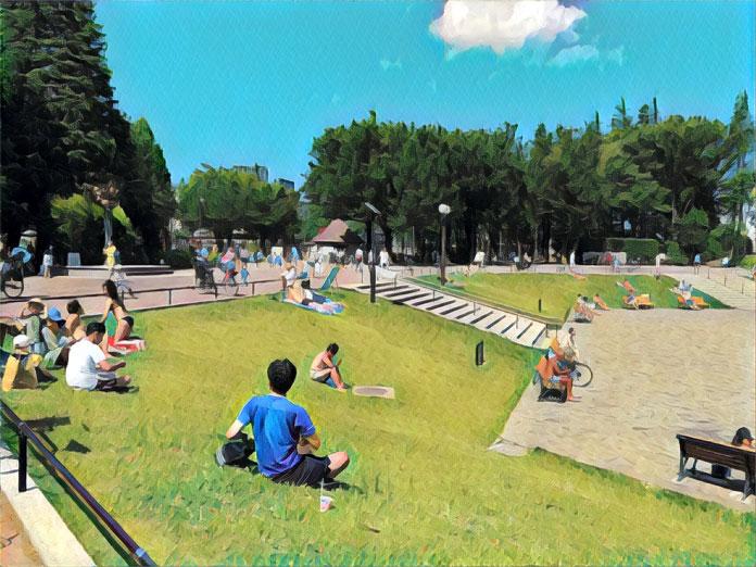 世田谷公園の芝生