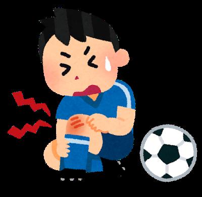 サッカーで怪我をした子ども