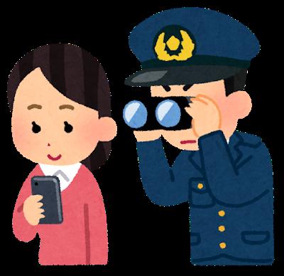 監視する警察官