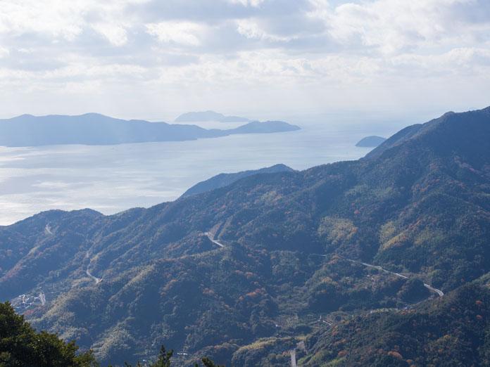 嵩山の頂上からの眺め