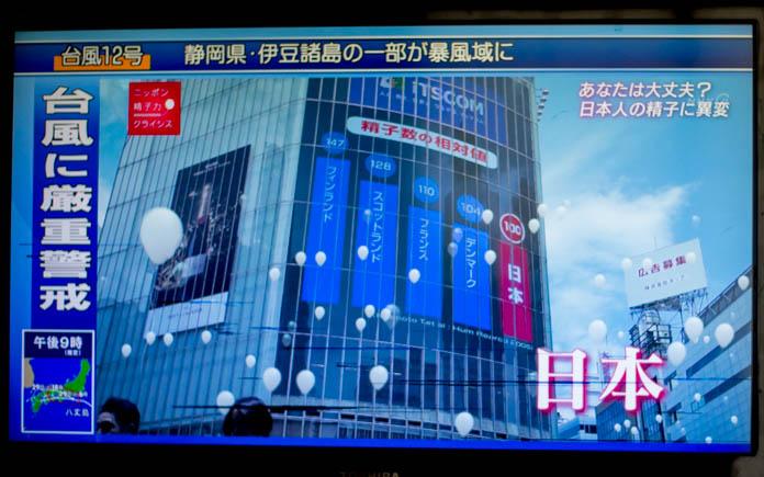 精子力 世界における日本の順位