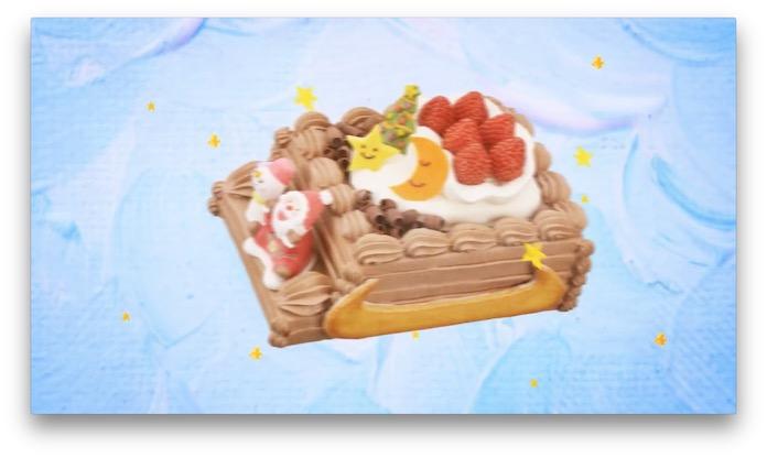 サンタのソリのケーキ