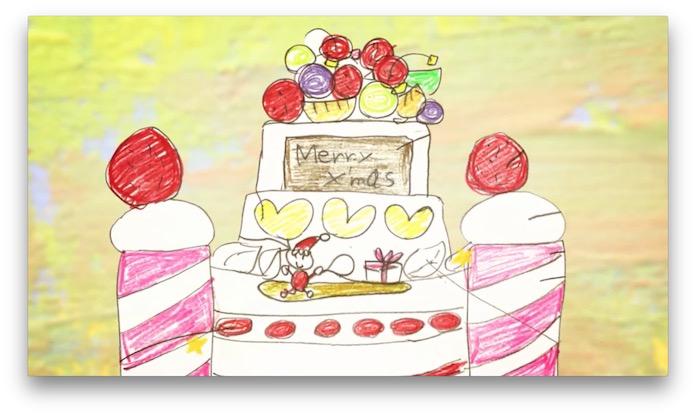 ケーキのお城のイラスト