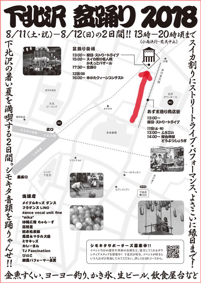 下北沢盆踊り 2018 の地図