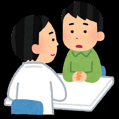 患者に説明する医師