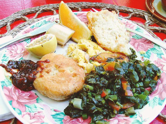 ジャマイカの朝食 アキー&ソルトフィッシュ