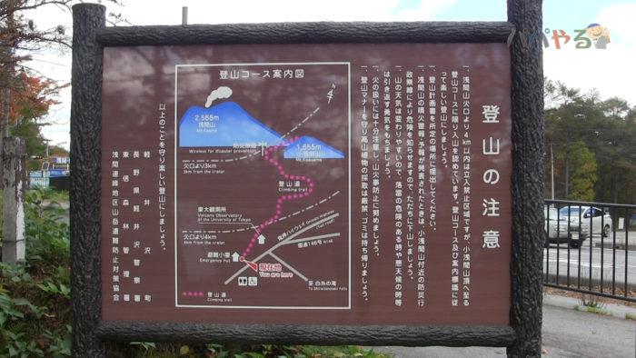 看板 登山の注意