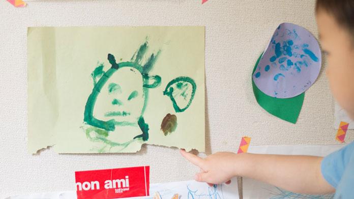 3歳の男の子が描いた人の絵