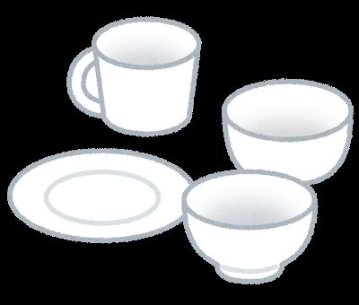シンプルな白の食器