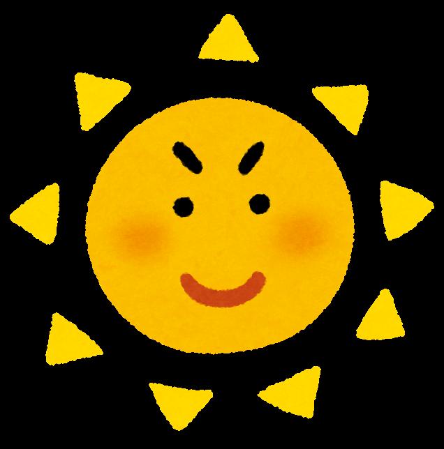 晴れた日の太陽